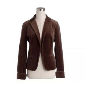 J Crew Ecole brown velvet blazer